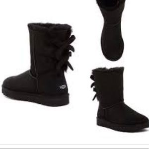 UGG Bailey corduroy bow  twinface shearling boots